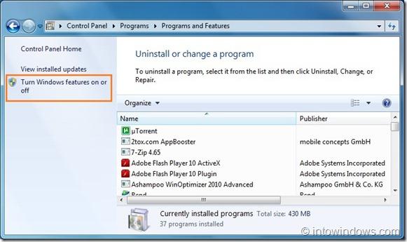 Desactivar característica de búsqueda en Windows 7 step4