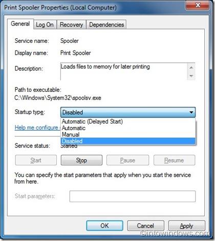 Desactivar servicios