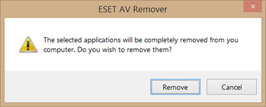 ESET AV Remover free Windows