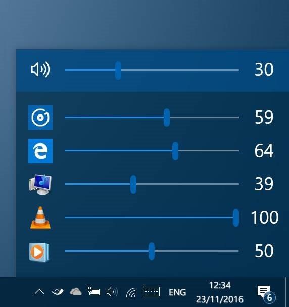 EarTrumpet ajusta los niveles de volumen para aplicaciones en Windows 10 pic1