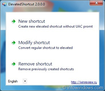 ElevatedShortcut For Windows