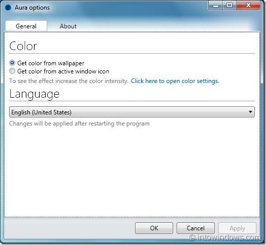 Activar la coloración automática de Aero en Windows 7