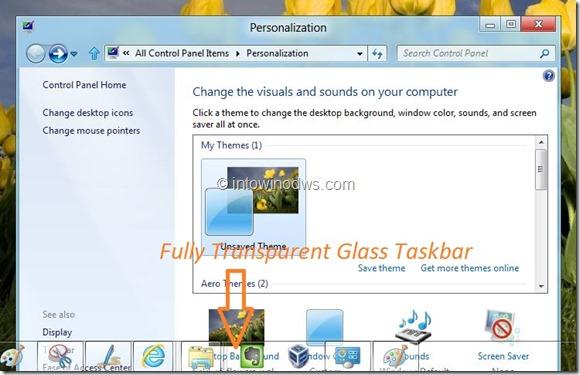 Enable Glass Taskbar In Windows 8 Developer Preview Step4