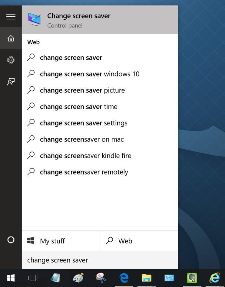 Activar protector de pantalla en Windows 10 pic1