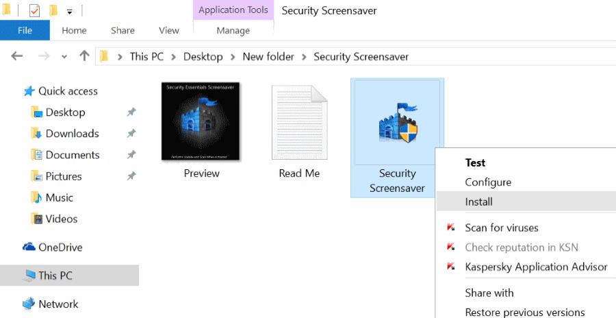 Activar protector de pantalla en Windows 10 pic5