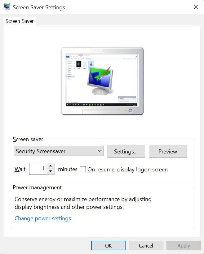 Activar protector de pantalla en Windows 10 pic6