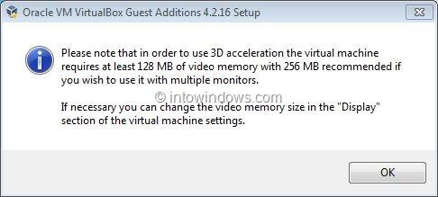 Activar Aero de Windows 7 en VirtualBox Paso 5