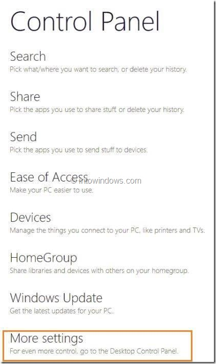 Enable or Disable Touch Screen In Windows 8 Step2