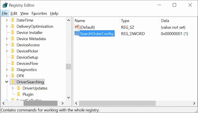 Activar o desactivar la actualización automática del controlador del dispositivo En Windows 10 step5