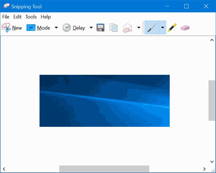 Activar o desactivar la herramienta de recorte en Windows 10 pic01