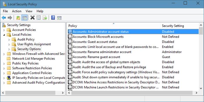 Activar la cuenta de administrador oculta incorporada en Windows 10 paso 7