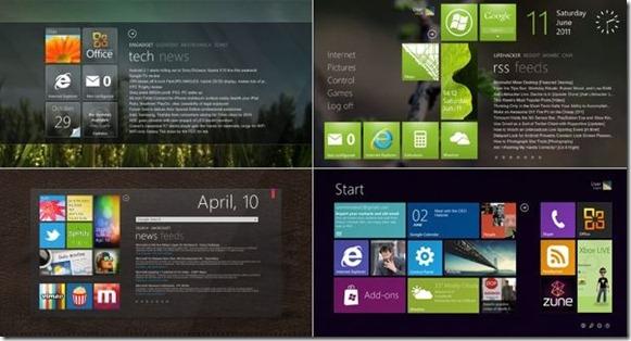 Pantalla de inicio exacta de Windows 8 en Windows 7