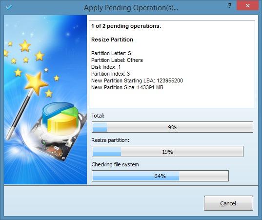 Extender la partición del sistema en Windows 8.1 Método 2 Paso 6