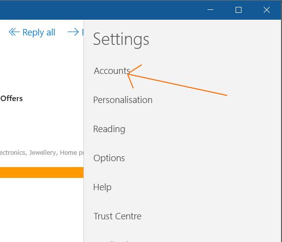 Solucionar problemas de sincronización de aplicaciones de correo en Windows 10 pic1