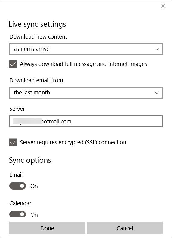 Solucionar problemas de sincronización de aplicaciones de correo en Windows 10 pic4.1