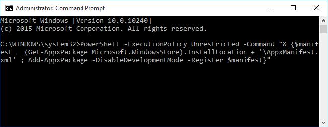 Arreglar el almacén Windows sin abrir ni cargar Windows 10