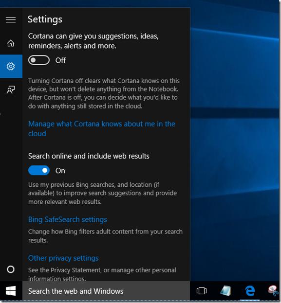 Reparación en Cortana que no funciona en Windows 10 pic1