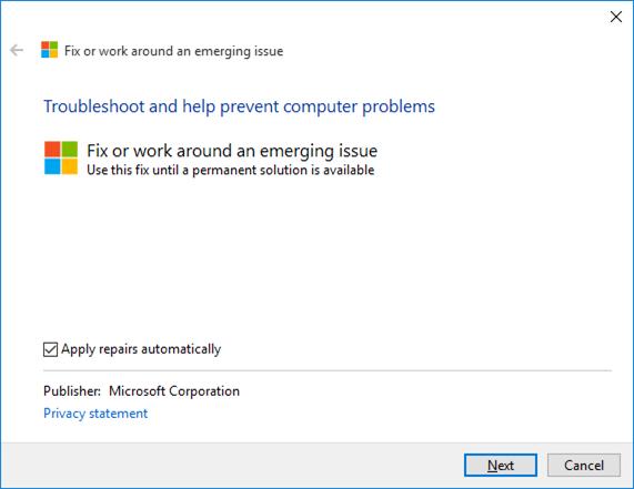 Corrección en la configuración de la aplicación que no se abre en Windows 10