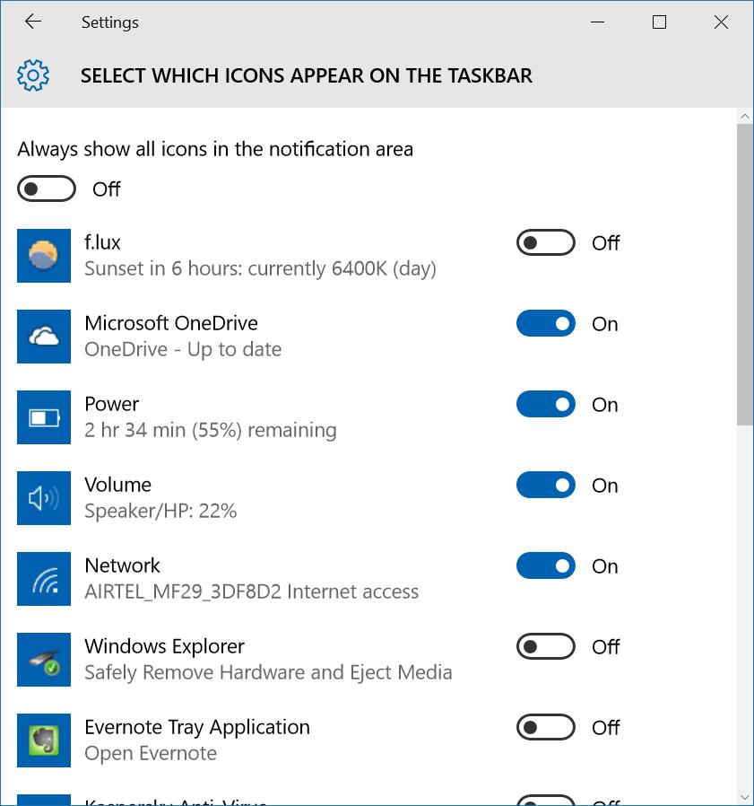 Reparar en la barra de tareas de Windows 10 la ocultación automática de pic8 que no funciona