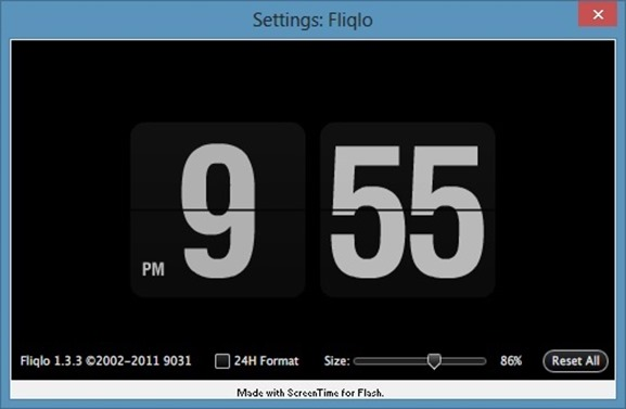 Fliqlo Screen Saver For Windows 8