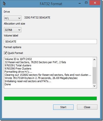 Format Large External Hard Drive FAT32 Step4