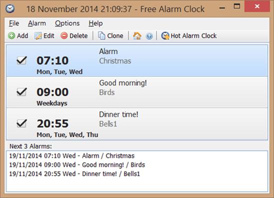 Free Alarm Clock for Windows desktop picture