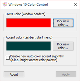Herramientas gratuitas para modificar y personalizar el Control de color de Windows 10