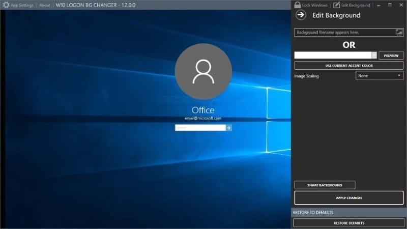 Herramientas gratuitas para modificar y personalizar el cambiador de pantalla de inicio de sesión de Windows 10