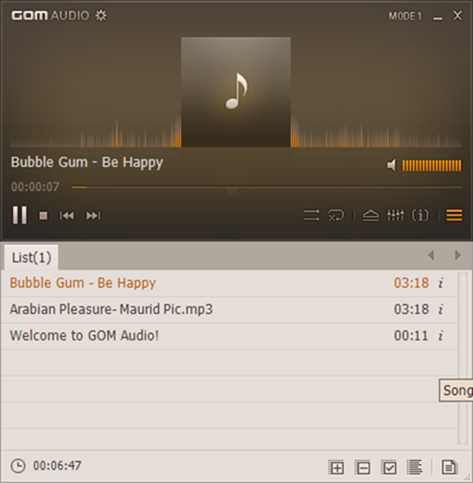 GOM Audio Player free download picture2