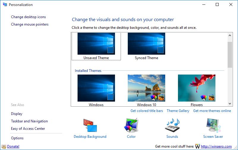 Obtener ventana de personalización en Windows 10 step2