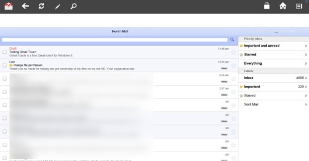Gmail Touch Windows 8