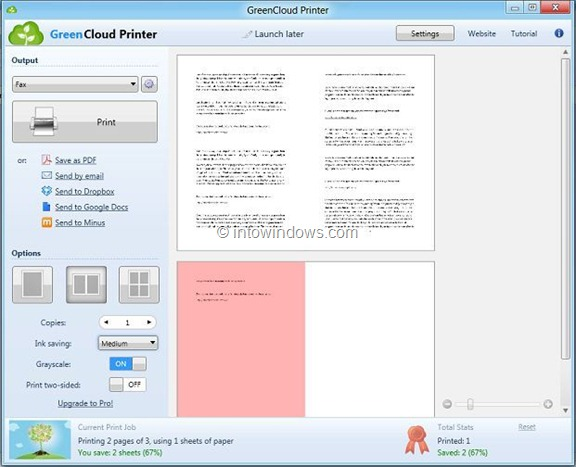 GreenCloudPrinter for Windows