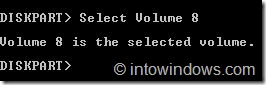 Ocultar unidades mediante el símbolo del sistema en Windows 7 step2