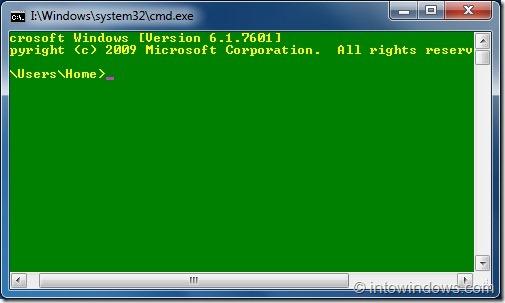 Cómo cambiar el texto del símbolo del sistema y el color de fondo en Windows 7