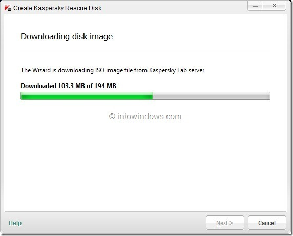 How To Create Kaspersky Rescue Disk USB Step4