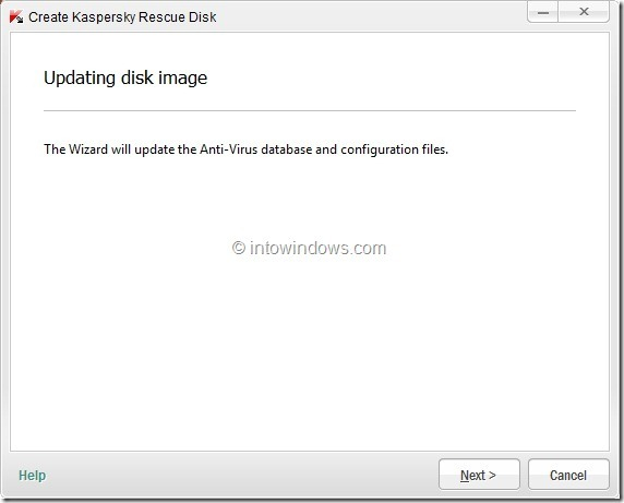 How To Create Kaspersky Rescue Disk USB Step5