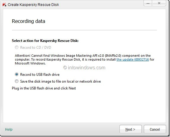 How To Create Kaspersky Rescue Disk USB Step6