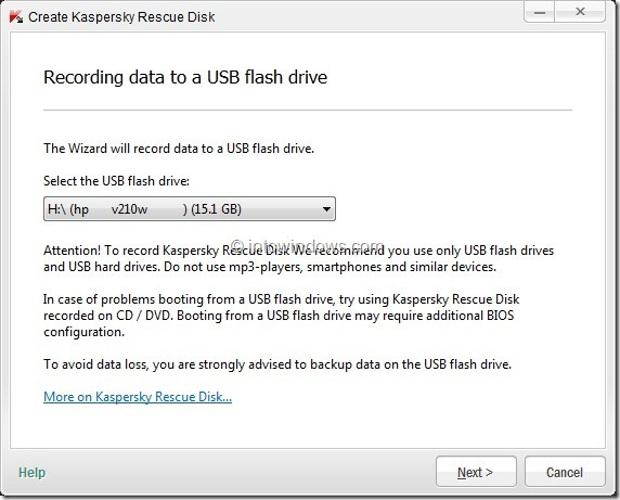 How To Create Kaspersky Rescue Disk USB Step7