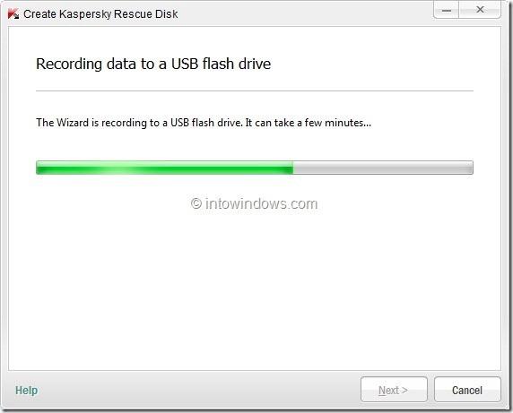 How To Create Kaspersky Rescue Disk USB Step8