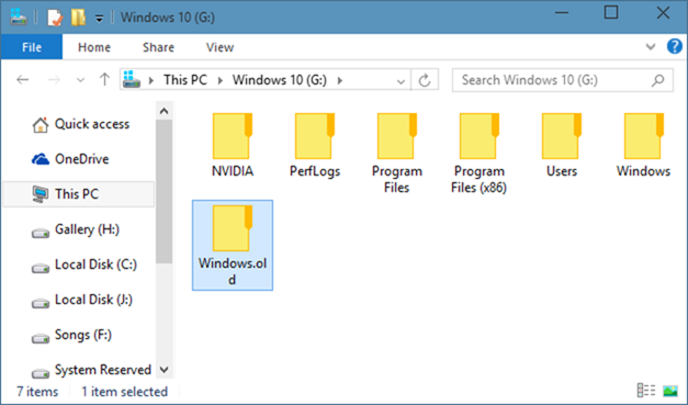 Cómo eliminar la carpeta Windows.old en Windows 10
