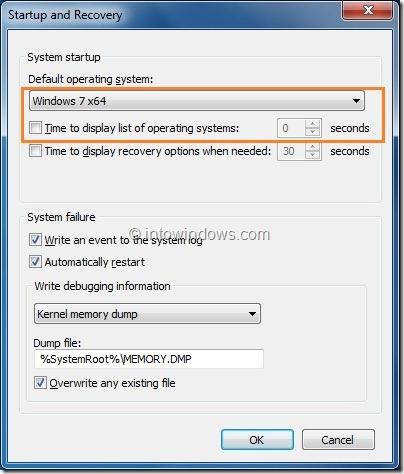 Cómo ocultar o saltar el Administrador de arranque en Vista y Windows 7 Paso 5
