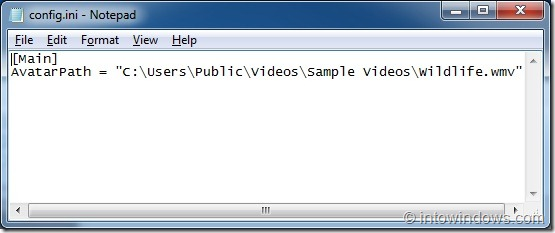 How To Set Video File As Taskbar User Picture In Windows 7