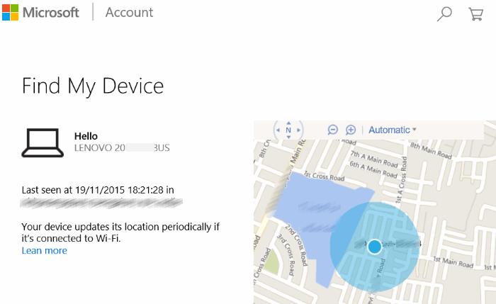 Cómo usar Find My Phone in Windows 10 step2