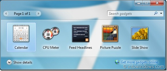 Cómo reinstalar gadgets desinstalados en Windows 7