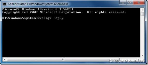 Cómo quitar la clave de producto de Windows del registro