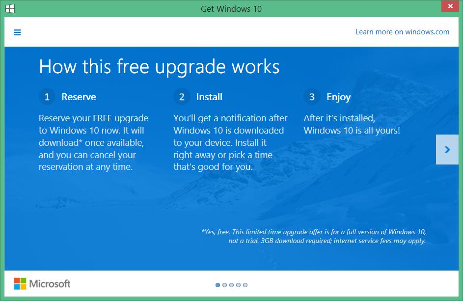 No quiero Windows 10