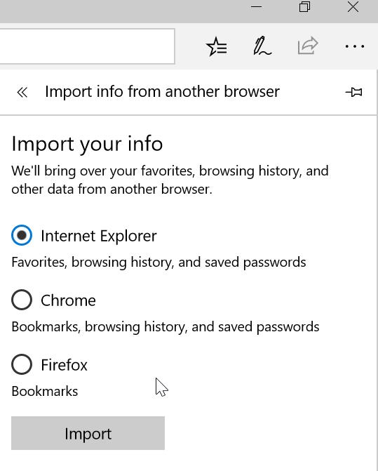 Importar contraseñas de Internet Explorer a Edge (4)