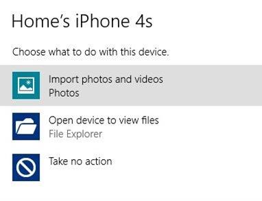 Importar fotos de iPhone a Windows Step2