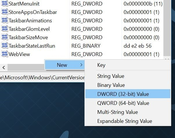 Aumentar el número de elementos en las listas de salto en Windows 10 step3