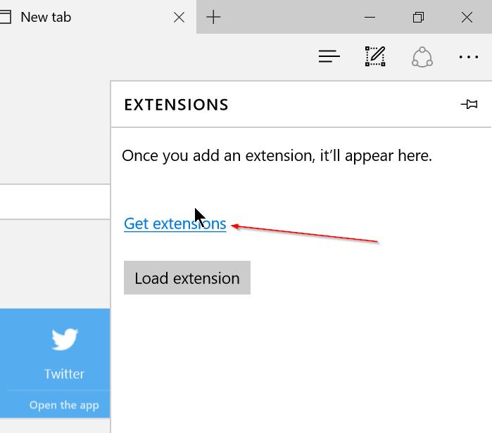 Instalar extensiones de borde en Windows 10 Step2